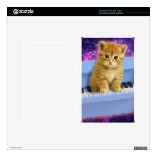 Piano cat decals for kindle fire