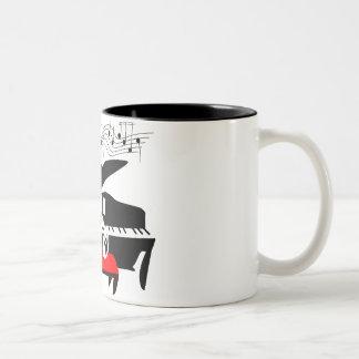 Piano cat mug
