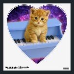 """Piano cat wall sticker<br><div class=""""desc"""">cute cats, funny cats, kittens pet kitty keyboard , kitten tabby small beautiful,  animal little pretty domestic,  feline  baby adorable paw , sitting lovely music instrument , classical musical concert melody , sound classic musician</div>"""