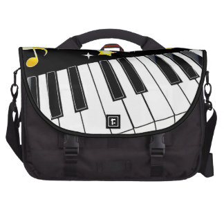 Piano Celebration with Gold Accent Bags For Laptop