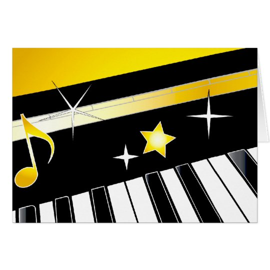 Piano Celebration with Gold Card