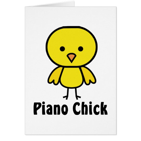 Piano Chick Card