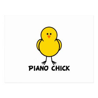 Piano Chick Postcard