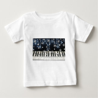 Piano Christmas Snowflake Keyboard Tee Shirt
