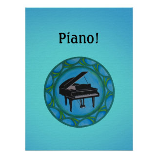 Piano Circle Poster