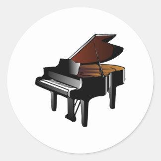 Piano Classic Round Sticker
