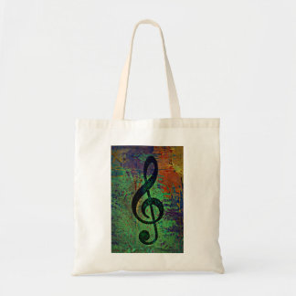 Piano Clef Music Style Tote Bag