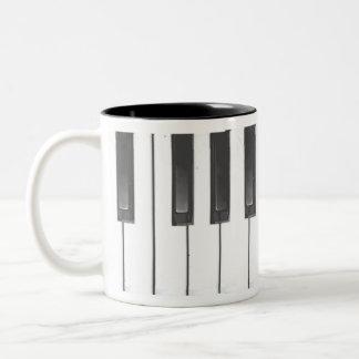 Piano Coffee Cup Two-Tone Coffee Mug