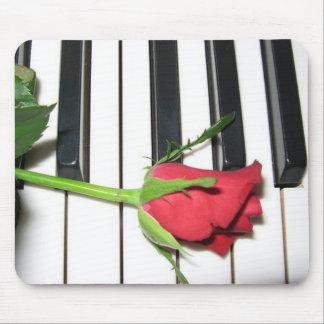 Piano color de rosa Mousepad Tapetes De Ratón