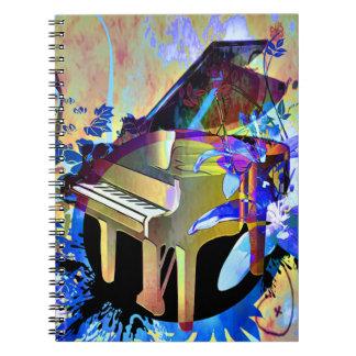 Piano coloreado Digital enrrollado Libretas