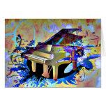 Piano coloreado Digital enrrollado Tarjeta De Felicitación