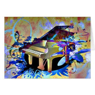 Piano coloreado Digital enrrollado Felicitacion