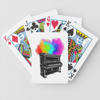 Piano Colorful Smoke Bicycle Playing Cards