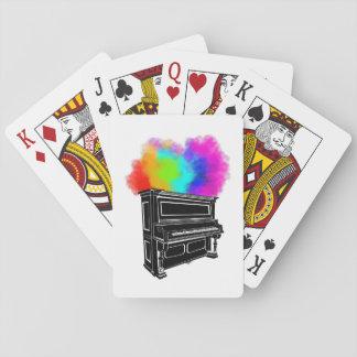 Piano Colorful Smoke Playing Cards