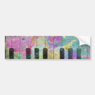 Piano colorido de las salpicaduras frescas de los  pegatina de parachoque