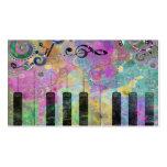 Piano colorido de las salpicaduras frescas de los  tarjetas de visita