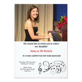 Piano Competition 5x7 Paper Invitation Card