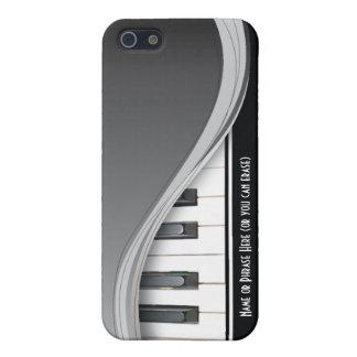 Piano con clase negro adaptable iPhone 5 fundas