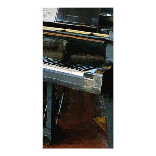 Piano con partitura tarjetas fotográficas personalizadas