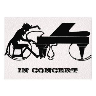 Piano Concert or Recital Invitations