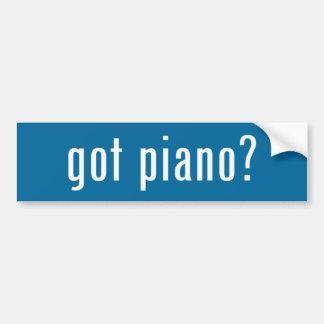 ¿piano conseguido? pegatina para auto
