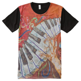 Piano Crazy Fingers Men's All-Over T-Shirt