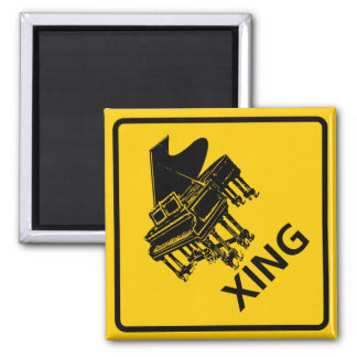 Piano Crossing Highway Sign Magnet