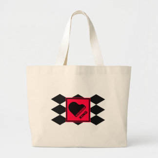 Piano Crossing Xing Traffic Sign Large Tote Bag