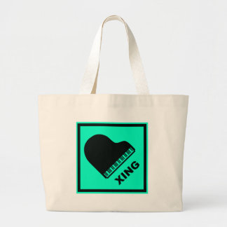 Piano Crossing Xing Traffic Sign Tote Bag