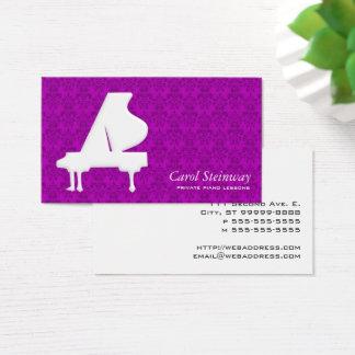 Piano Damask Business Card