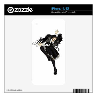 Piano Dance Decals For iPhone 4S