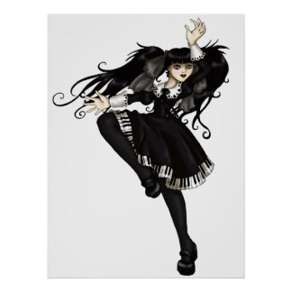Piano Dance Poster