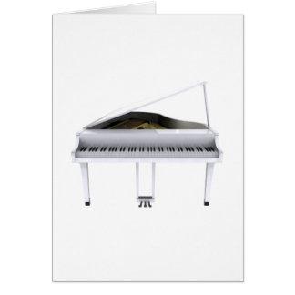 Piano de cola blanco: modelo 3D: Tarjeta De Felicitación