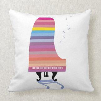 Piano de cola colorido cojín