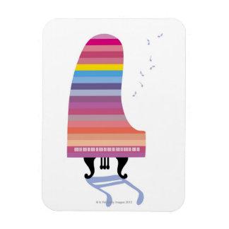 Piano de cola colorido imanes rectangulares