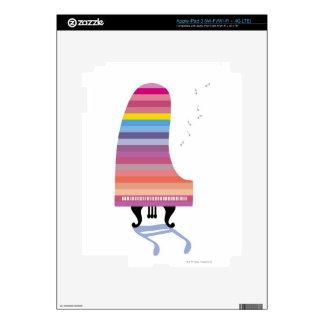 Piano de cola colorido iPad 3 pegatinas skins