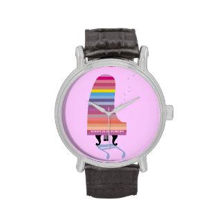 Piano de cola colorido relojes de mano