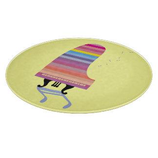 Piano de cola colorido tabla para cortar