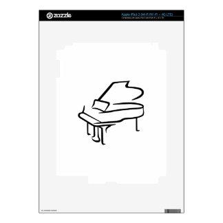 Piano de cola iPad 3 skin