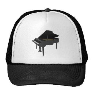 Piano de cola negro: modelo 3D: Gorras De Camionero