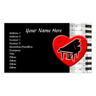 Piano de cola plantilla de tarjeta personal