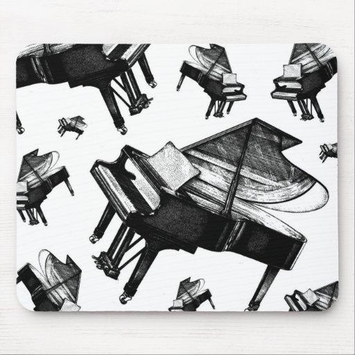 Piano de cola tapetes de ratón