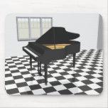 Piano de cola y suelo de baldosas: modelo 3D: Alfombrillas De Ratones