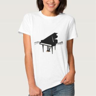 Piano de cola y teclado polera