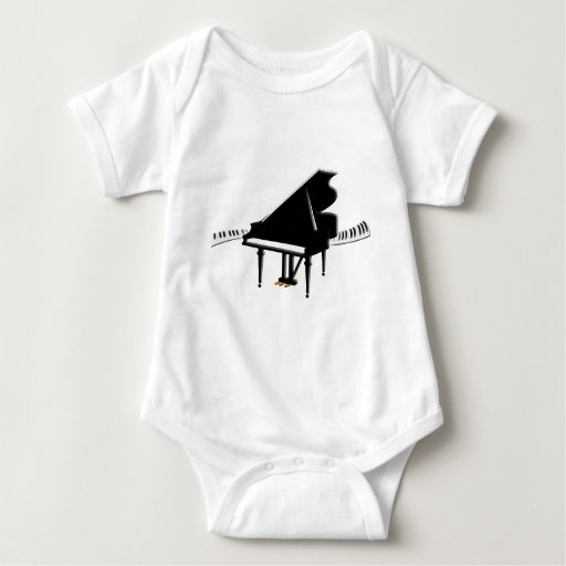 Piano de cola y teclado t-shirt