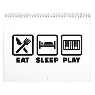 Piano de Eat Sleep Play Calendario