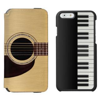 Piano de la guitarra combinado funda cartera para iPhone 6 watson