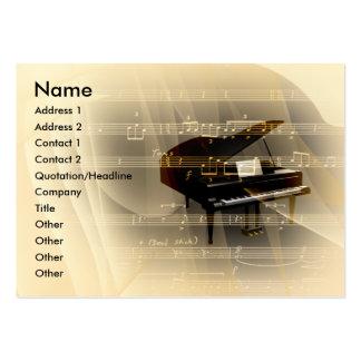 Piano de la música plantillas de tarjetas de visita
