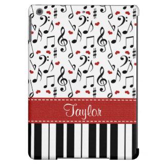 Piano de la nota de la música funda para iPad air