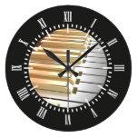 Piano de la plata y del oro relojes